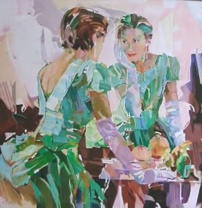 Spiegelbeeld, afmeting 80 x 80 cm (LxH)
