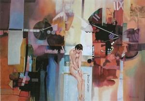 Vrouwenhandel, afmeting 80 x 60 cm (LxH)