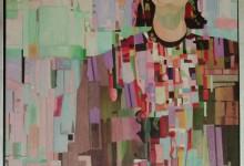 Ode aan Mondriaan, schilderij Pe Groot, afmeting 60 x 80 cm (b x h)