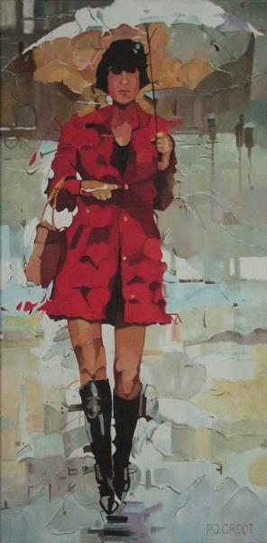 Come, schilderij Pe Groot, afmeting 40 x 80 cm (b x h)