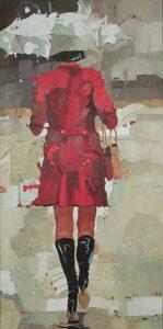 Go, schilderij Pe Groot, afmeting 40 x 80 cm (b x h)