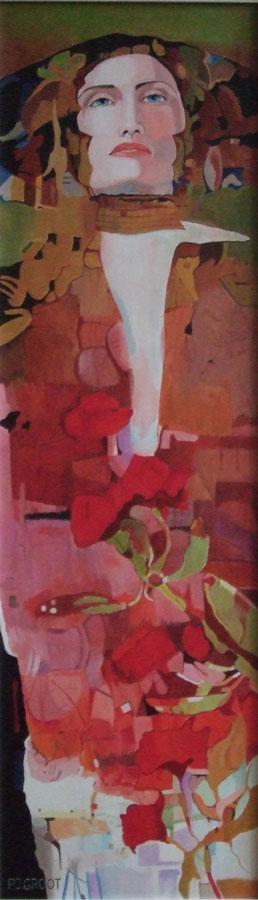 Van Klimt tot Toorop, schilderij Pe groot, afmeting 30 x 100 cm (b x h)