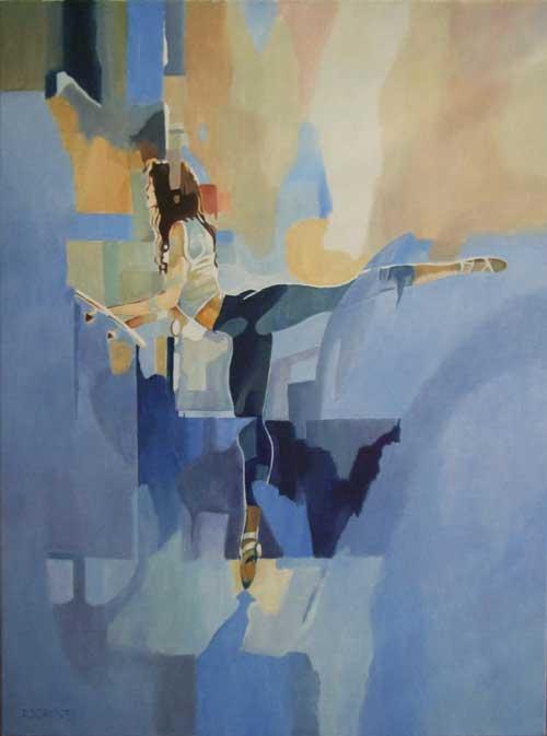 Arabesque, schilderij Pe groot, afmeting 60 x 80 cm (b x h)