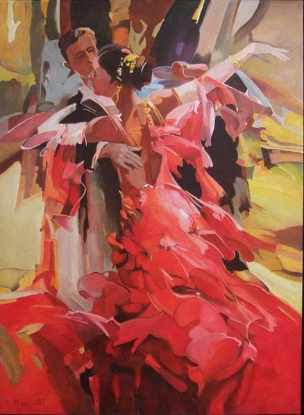 The Waltz, schilderij Pe groot, afmeting 60 x 80 cm (b x h)