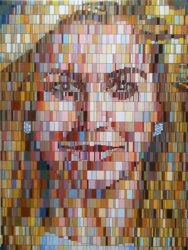 Maxima, schilderij Pe groot, afmeting 60 x 80 cm (b x h)