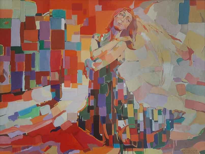 Mondriaan II, 60 x 80 cm, Pe Groot 2021